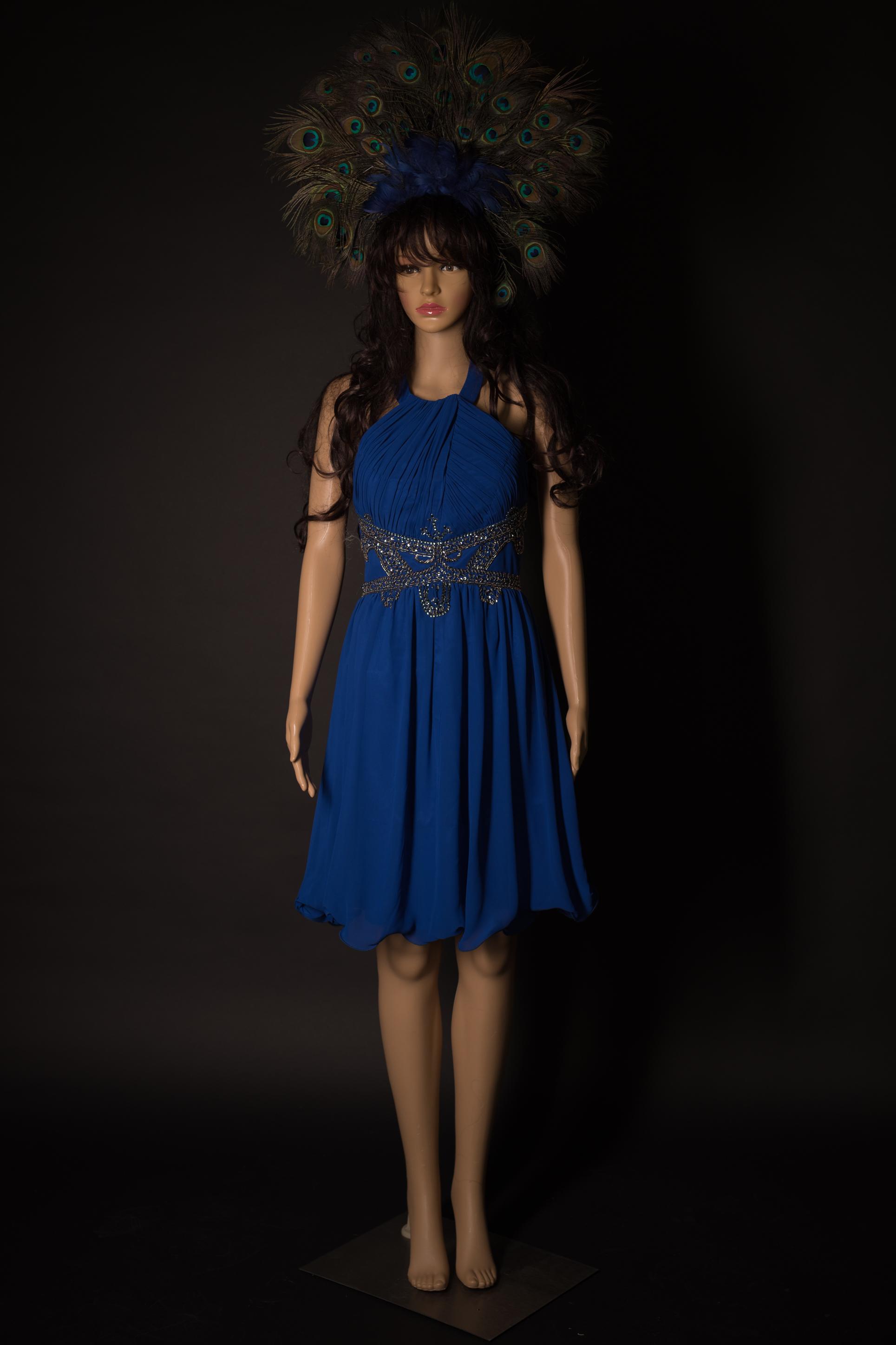 Chickes Kleid royalblau