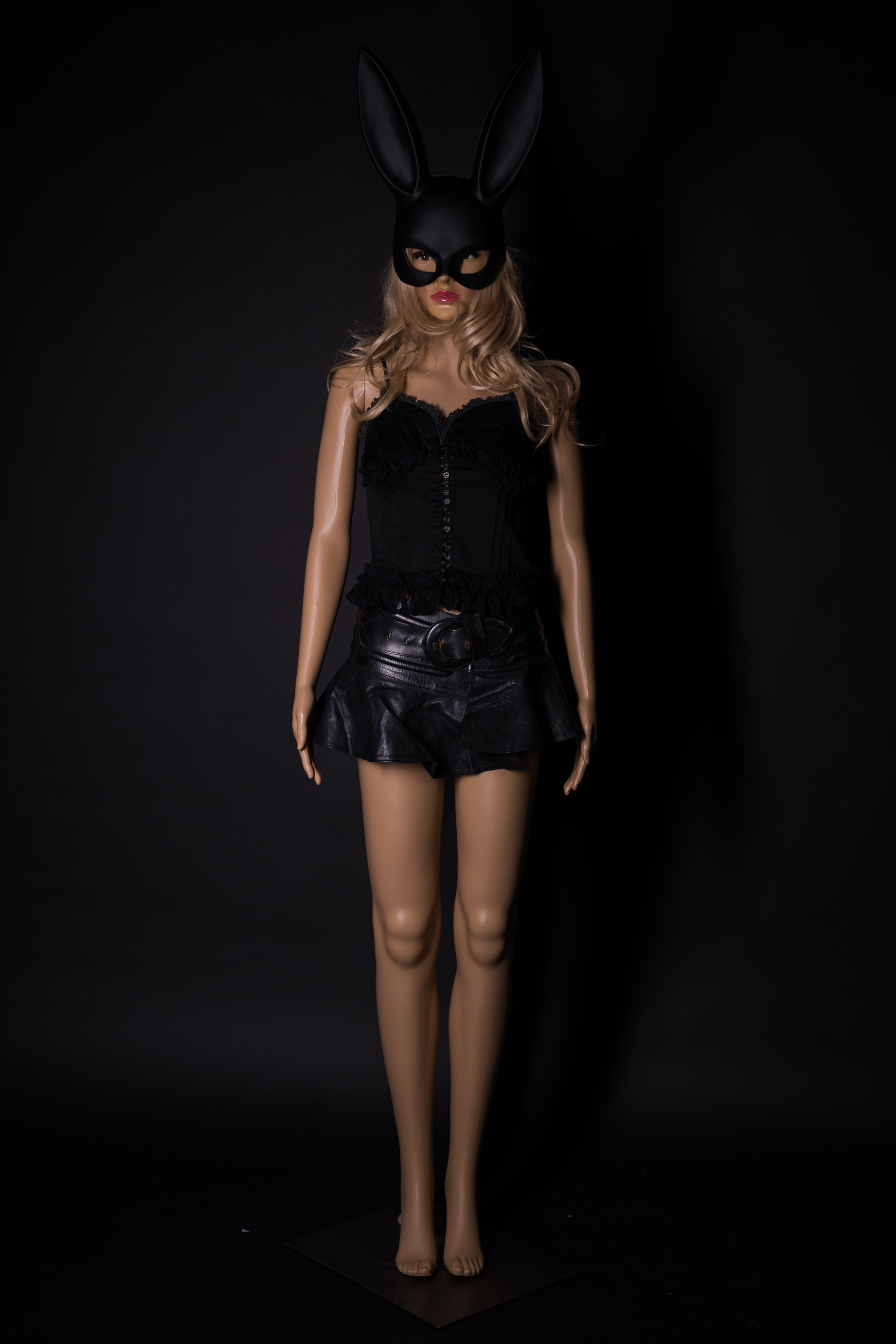 Schwarzes Outfit Catwoman